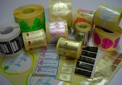 Etiquetas autocolantes / tecido autocolante