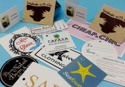 Etiquetas cartolina