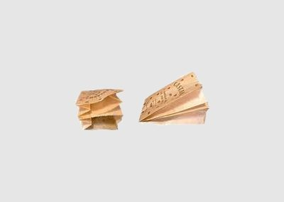 Saquetas papel kraft castanhas
