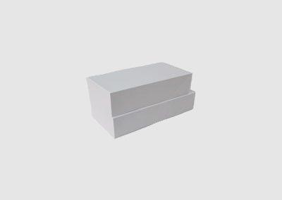 Caixas de cartolina tortas