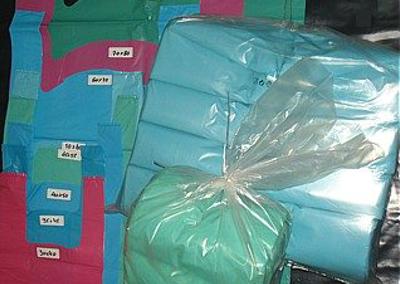 Sacos plástico AD alça cor