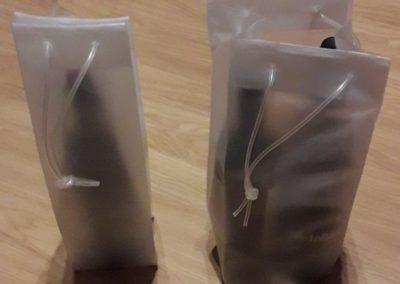 Saco plástico ad incolor c/ tubo