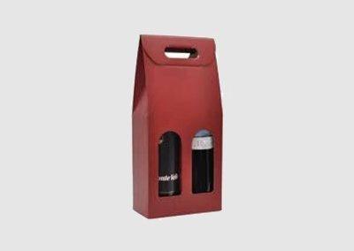 Caixa cor 2 garrafas (preto/bordeaux)